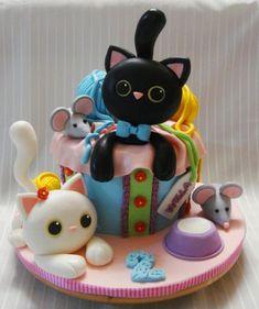 Cat cake - Cake by Nadia - CakesDecor