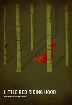 Christian Jackson ed i suoi poster minimalisti ispirati dalla fiabe #cappucetto rosso