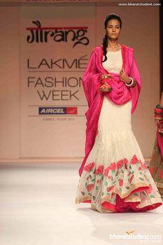 indian destination wedding, indian lehenga Gaurang Shah's Show at Lakme Fashion Week Summer/Resort 2013 Love the colors! Lakme Fashion Week, India Fashion, Ethnic Fashion, Asian Fashion, Churidar, Anarkali, Salwar Kameez, Lehenga, Sarees
