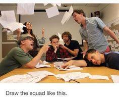 Draw the squad like this #artchallenge