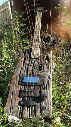 Driftwood Bass guitar - weird, but cool, guitar. Custom Bass Guitar, Guitar Art, Custom Guitars, Music Guitar, Cool Guitar, Art Music, Cigar Box Guitar Plans, Ukulele Design, Ukelele