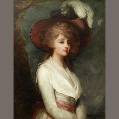Circle of George Romney (Beckside 1734-1802 Kendal) Portrait of a young lady, three-quarter-length,