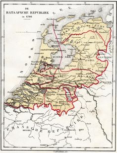1798 - The Batavian Republic was the successor of the Republic of the Seven United Netherlands. It was proclaimed on 19 January 1795, and ended on 5 June 1806, with the accession of Louis I to the throne of Holland. Note that Limburg was not part of the Republic.
