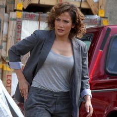 Jennifer Lopez Is Getting Down and Dirty on the Set of Shades of Blue