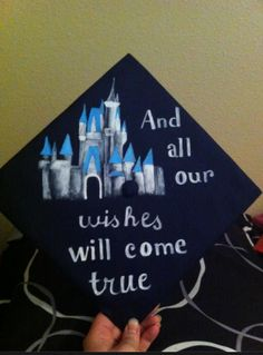 I'm about to graduate college! Here is my Disney themed graduation cap!