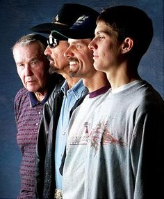 Lee, Richard, Kyle and Adam Petty.