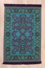 Overdyed 4x6 Rug in Blue at Urban Outfitters