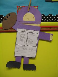 First grade noun and verb football themed activity. Possibly allow students to use other sports as well. a fun way to identify nouns and verbs.