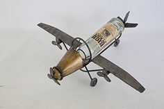 Wine Racks - Metallic Propeller Engine Plane Wine holder  Holds One Bottle * To view further for this item, visit the image link.