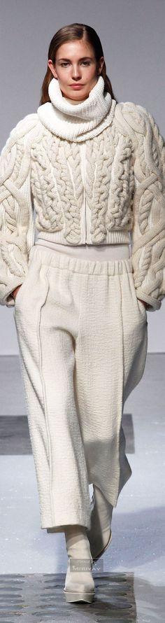 Barbara Bui. Fall-winter 2014-2015  Looks like I-cords sewn onto a sweater.