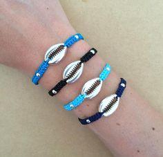 Beach Bracelets, Summer Bracelets, Macrame Bracelets, Summer Jewelry, Beaded Bracelet, Shell Bracelet, Bracelet Making, Embroidery Bracelets, Seashell Jewelry