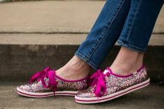 Kate Spade & Keds -Limited Edition Champion PINK Glitter Shoes Sneaker SZ 9.5 US