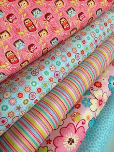Happy Flappers owl fabric bundle by Riley Blake by fabric shoppe $15