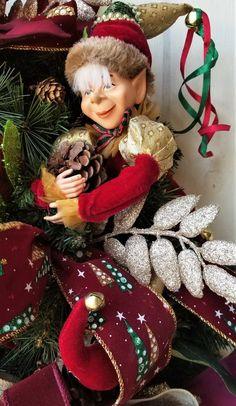 Whimsical Christmas, Christmas Fairy, Holiday Wreaths, Christmas Decorations, Christmas Ornaments, Wreaths For Front Door, Door Wreaths, Poinsettia Wreath, Succulent Wreath