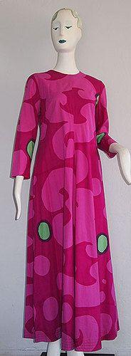 1966 Vintage MARIMEKKO MAXI DRESS! This is FANTASTIC!