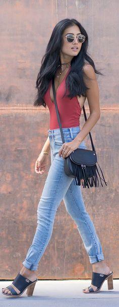 bodysuit skinny jeans