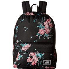 Vans Realm Classic Backpack (Summer Rose) Backpack Bags (€32) ❤ liked on Polyvore featuring bags, backpacks, bolsas, summer backpack, pocket backpack, vans bags, rucksack bags and backpack bags