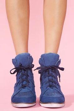 """Venice Wedge Sneaker - Blue"" https://sumally.com/p/444712"
