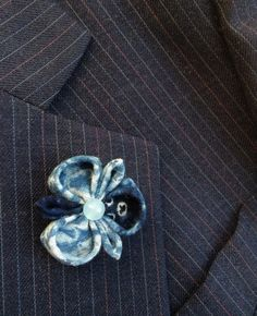 Blue Lapel Flower Lapel Pins Mens Lapel Pin Flower Lapel Pin | Etsy Custom Lapel Pins, Fashion Accessories, Hair Accessories, Lapel Flower, Kanzashi Flowers, Fabric Remnants, Fabric Squares, Jade Beads, Groomsman Gifts