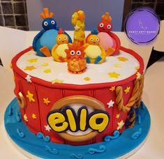Birthday Cakes, 2nd Birthday, Birthday Ideas, Birthday Parties, Twirlywoos Cake, Cake Decorating For Kids, Christening, Bobs, Cake Ideas