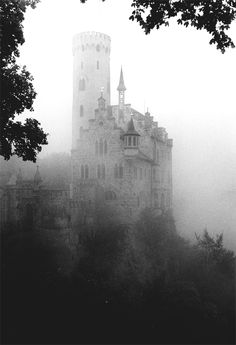 Castle in the fog...rather mystical looking via Anna Chaput.