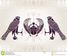 Pochoir égyptien De Horus Et De Scarabée - Télécharger parmi plus de 35 Millions des photos, d'images, des vecteurs et . Inscrivez-vous GRATUITEMENT aujourd'hui. Image: 15854850
