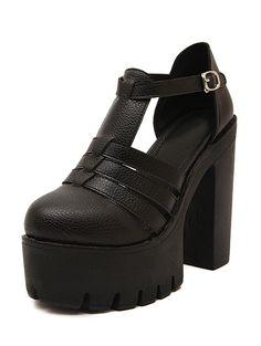 Black Ankle Strap High Heeled Sandals 37.67