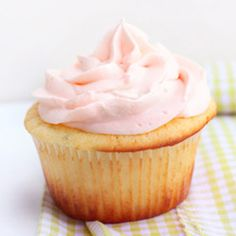 Raspberry lime cloud cupcakes are filled with an easy to make raspberry lime curd.