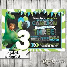 The Good Dinosaur Invitation The Good by AGMPrintableDesigns