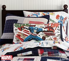 Captain America pillow.
