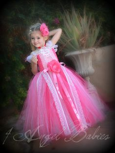 DISNEY Princess Sleeping Beauty Aurora Inspired Pink Glitter TuTu Ball Gown Dress- Glitz Style with matching hair piece Made to Order. $78.75, via Etsy. - so adorable!