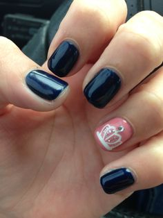 #nails#crown#navy#pink