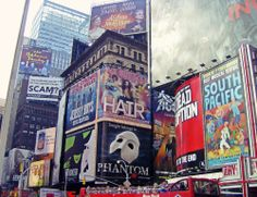 Broadway Posters in Times Square.