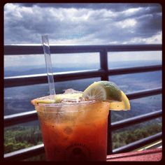 Bloody Marys 9131' feet up. Take a gondola to the top of the mountain for lunch on the Oasis Sundeck in  Steamboat Springs, CO. #tmom #summer