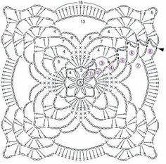 Patterns and motifs: Crocheted motif no. 1147