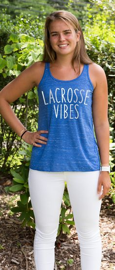 Just living that #lacrosselife in this stylish flowy tank top!