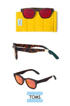 15a9a5d68583c The TRAVELER by TOMS Bowery Dark Matte Tortoise Sunglasses are designed to  provide long-lasting