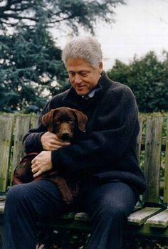 Famous people (Bill Clinton) + Dogs