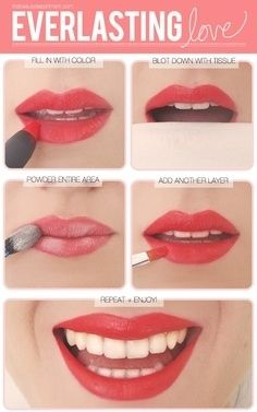 Here's how you get longer-lasting lipstick.   Community Post: 31 Creative Life Hacks Every Girl Should Know