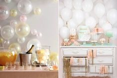 Love the balloons attached to the wall like bubbles