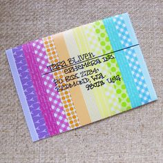 Washi tape envelope art - could also just make this with markers or colored pencils!