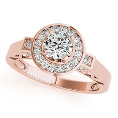 ELLIANA ENGAGEMENT RING in 14K Rose Gold - Price: ₹42,432.00. Buy now at http://www.solitairehouse.com/elliana-engagement-ring-in-14k-rose-gold.html
