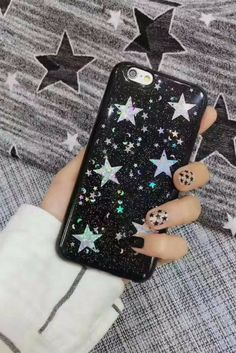 Glitter star iphone 6, iphone 6 plus, iphone 7 & iphone 7 plus protective case for cute teen girls