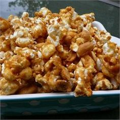 (Tried & True!! But I use butter!) My Amish Friend's Caramel Corn / All Recipes.com