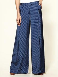 "Th return of the trouser. No doubt Katharine Hepburn would be saying ""and it's about damn time, too!""."