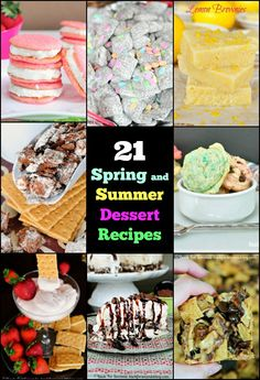 21 Favorite Spring and Summer Dessert Recipes!   #dessert #nobake #summer