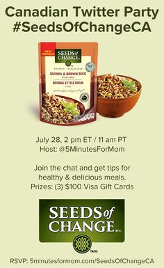 Join the Seeds of Change Canadian Twitter Party