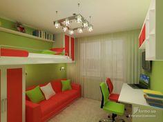 детская комната 9 кв.м для девочки интерьер