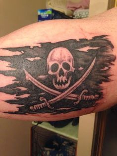 Roughed up pirate flag!