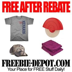 FREE AFTER REBATE - Shirts, Hats, Cutter & Wash Cloths - exp 6/23/13